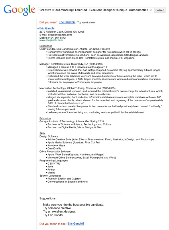 creative cv ideas
