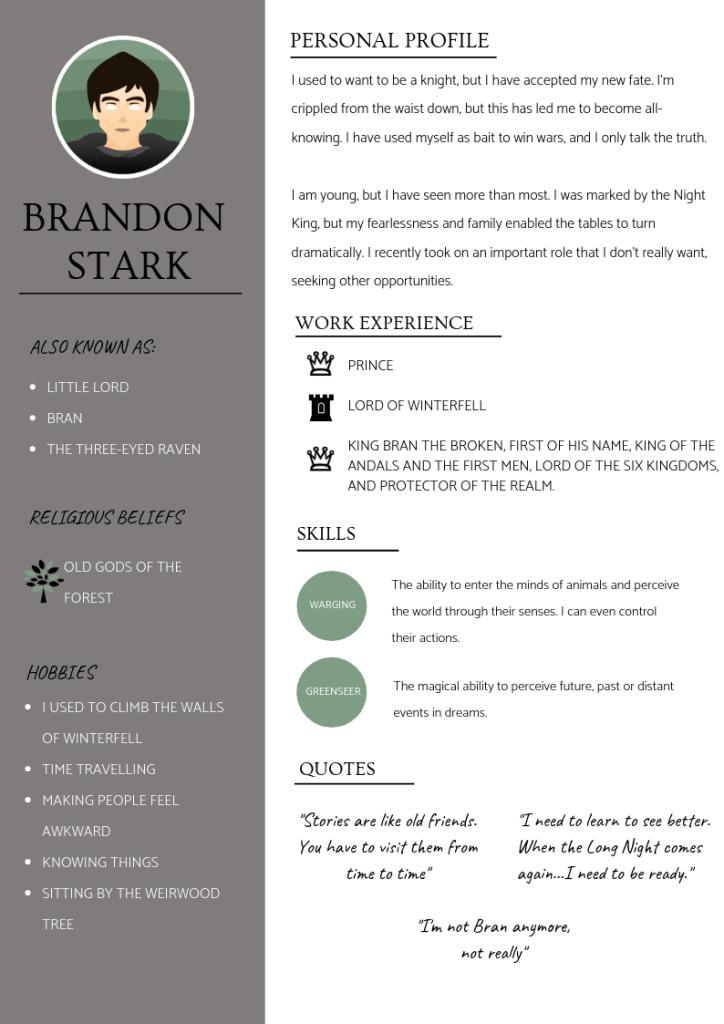 BRANDON STARK cv
